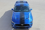 2018 Ford Mustang Racing Stripes HYPER RALLY Vinyl Graphics Wide Hood Decals