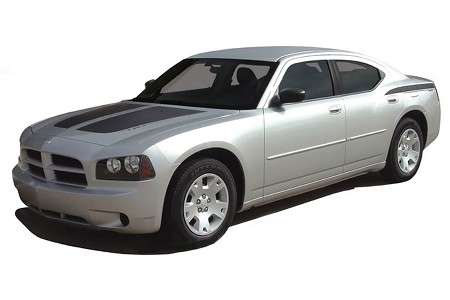 "2006-2010 Dodge Charger ""CHARGIN"" Hood Vinyl Graphics Stripes and Decals Kit"