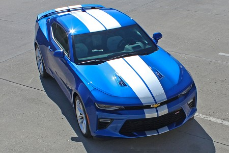 "2016 2017 2018 Chevy Camaro TURBO RALLY ""OEM Factory Style"" Bumper to Bumper Rally Racing Stripes Kit fits SS RS V6 Models"