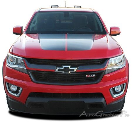 "2015 2016 2017 2018 Chevy Colorado ""CRESTONE"" Grill Decals Accent Vinyl Graphics Stripes Kit"