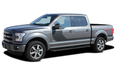 2015 2016 2017 2018 Ford F-150 Stripes SIDELINE Special Edition Appearance Package Hockey Stripe Decals Vinyl Graphics Kit