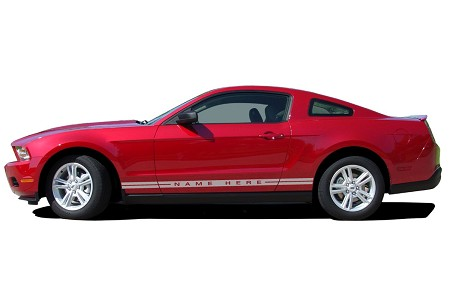 "2005 - 2009 Ford Mustang ""WILDSTANG ROCKER 1"" Factory OEM Style Lower Rocker Stripes Vinyl Decal Graphics"
