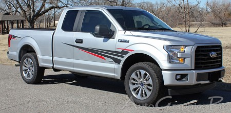 2015 2016 2017 2018 Ford F-150 Door Vinyl Graphic APOLLO TWO COLOR Decals Fender to Side Panel Vinyl Graphics Kit
