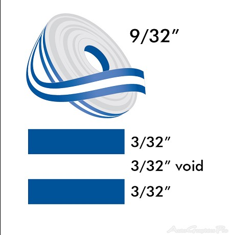 "9/32"" x 150' Vinyl Stripe Roll 