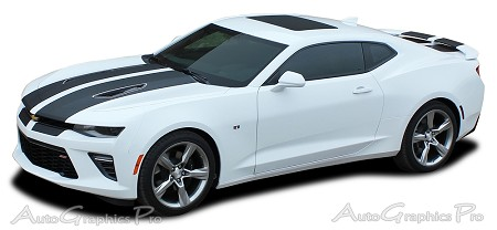"2016 2017 Chevy Camaro CAM-SPORT ""OEM Factory Style"" Rally and Racing Stripes Kit fits SS and RS Models"