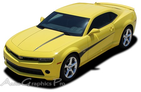 "2010-2013 and 2014-2015 Chevy Camaro ""SWITCHBLADE"" Hood and Side Spear Vinyl Decal Graphics for SS, RS, LT, LS Models"