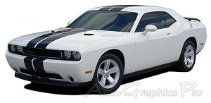 "2008-2014 Dodge Challenger ""RALLY STRIPES"" Mopar Style Racing Vinyl Graphics"