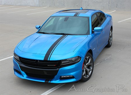 2015 2016 2017 2018 Dodge Charger Hood Stripes E-RALLY Mopar Decals Vinyl Graphics Racing Stripe Kit