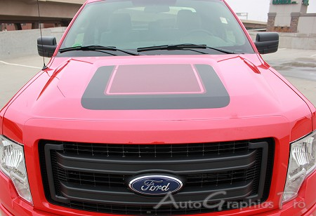 "2009 - 2014 Ford F-150 ""QUAKE HOOD"" Factory Tremor FX Style Hood Vinyl Decal Graphic"