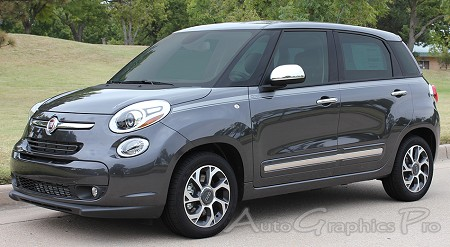 "2014-2016  Fiat 500L ""STRAIGHTAWAY"" 4-Door Stripes Vinyl Graphic Kit"