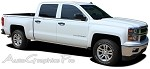 "2000-2015 Chevy Silverado ""ELITE"" Truck Side Vinyl Graphics Stripes Kit"