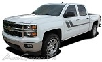 "2000-2015 Chevy Silverado ""TRACK XL"" Truck Side Vinyl Graphics Stripes Kit"