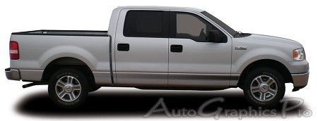 "Ford F-150 ""VANGUARD"" Fade Style Universal Fit Vinyl Decal Graphic Stripes"