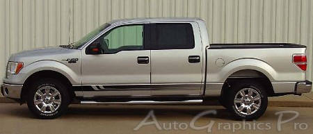F  F VIKING Lower Rocker Fade Style Universal Fit Vinyl - F250 decals