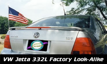 Volkswagen Jetta : Painted Rear Spoiler Wing fits 1999 - 2005 Models