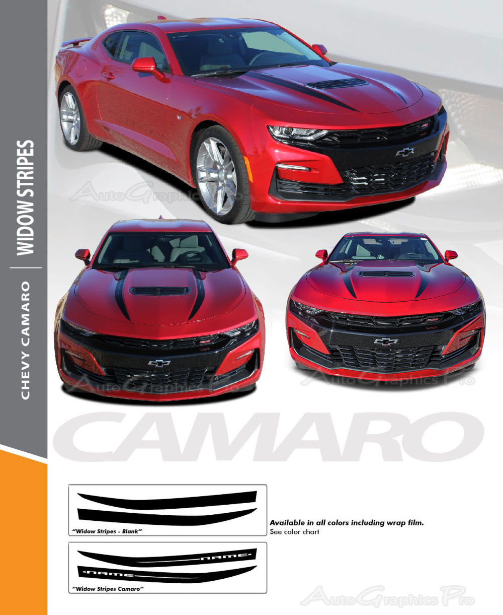 2019 Chevy Camaro Hood Spears Decals Widow Spider Hood Stripes Vinyl