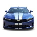 2019 Chevy Camaro Racing Stripes TURBO RALLY 19 Dual Hood Bumper to Bumper Vinyl Graphics Decal Kit