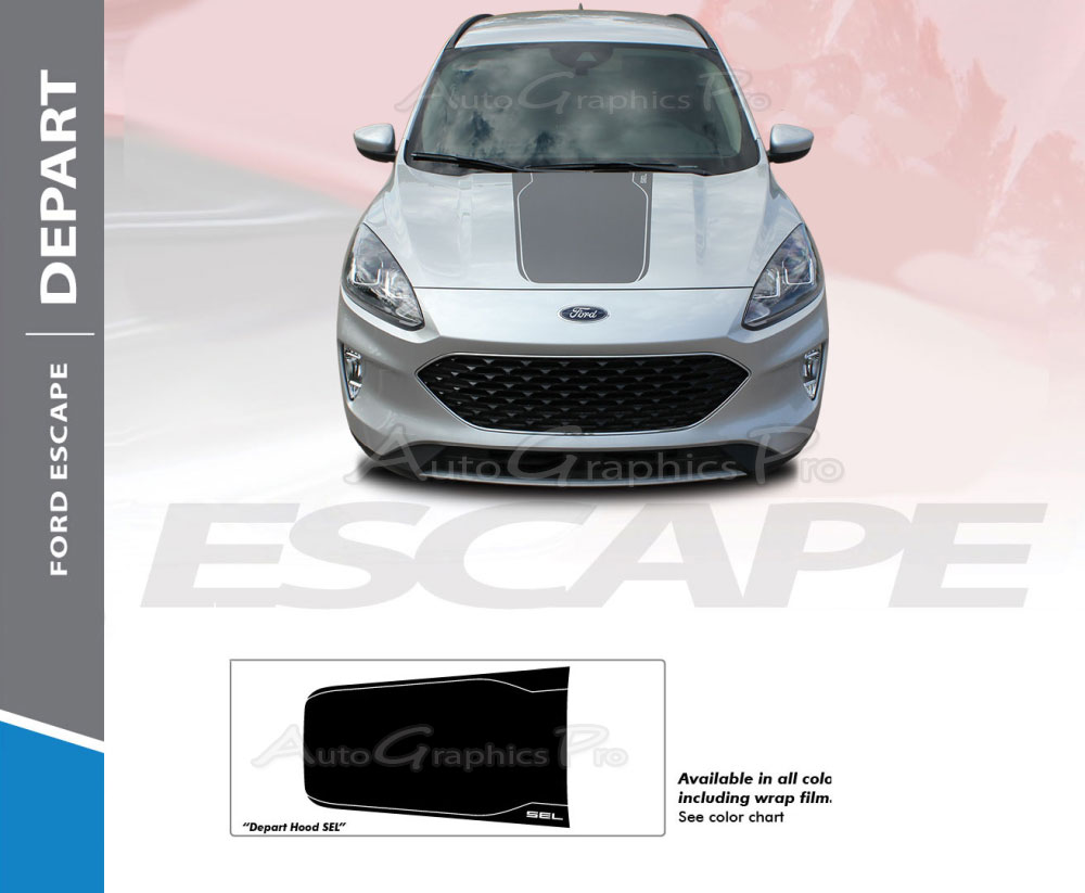 2020 Ford Escape Hood Decal Depart Hood Vinyl Graphic
