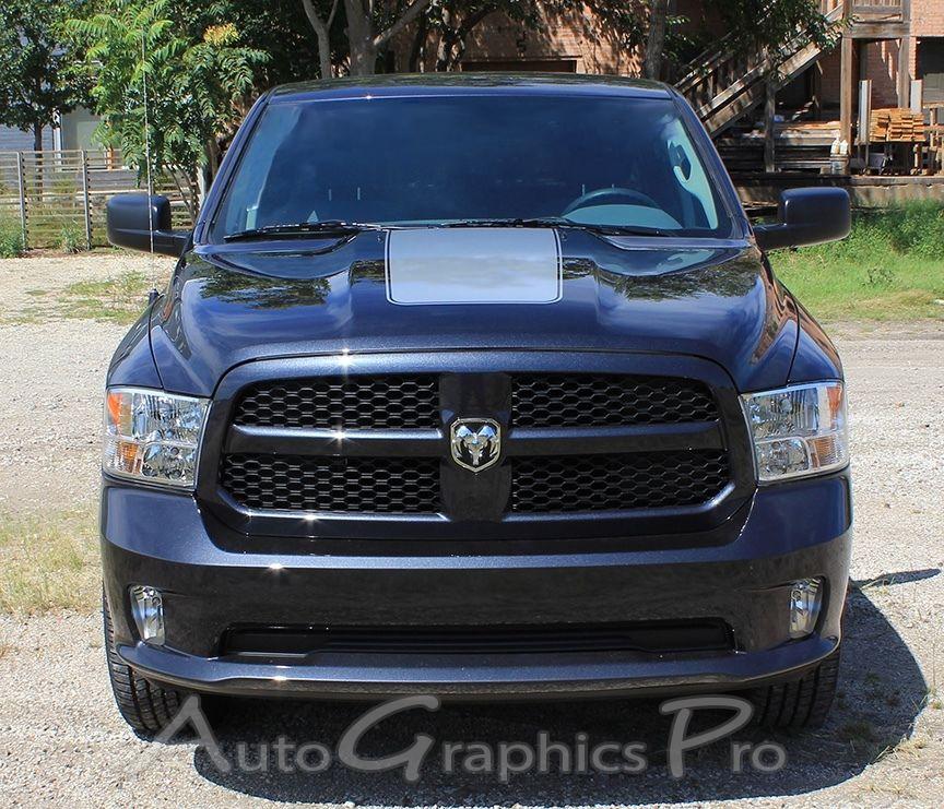 Dodge Ram Sport Hood Blackout Stripes 2009-2010-2011-2012-2013-2014 Style 6