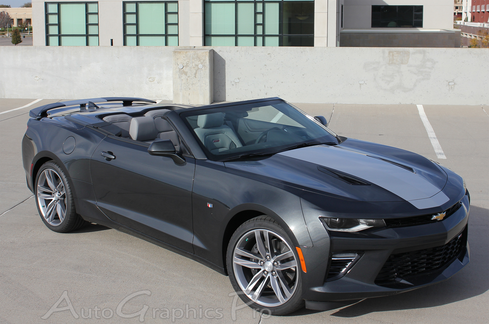 2016 2017 2018 Chevy Camaro Overdrive Convertible Center Wide Hood Roof Trunk Spoiler Rally Racing Stripes Kit Fits Ss Rs V6