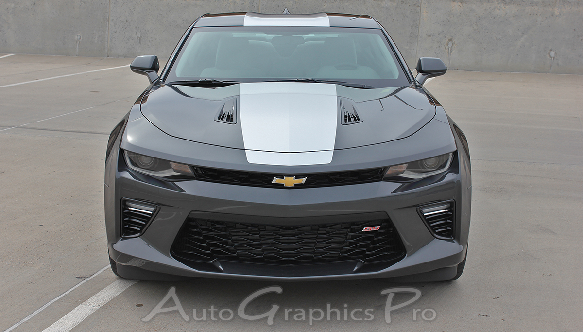 2016 2017 2018 Chevy Camaro OVERDRIVE Center Wide Hood Roof Trunk Spoiler Rally Racing Stripes ...