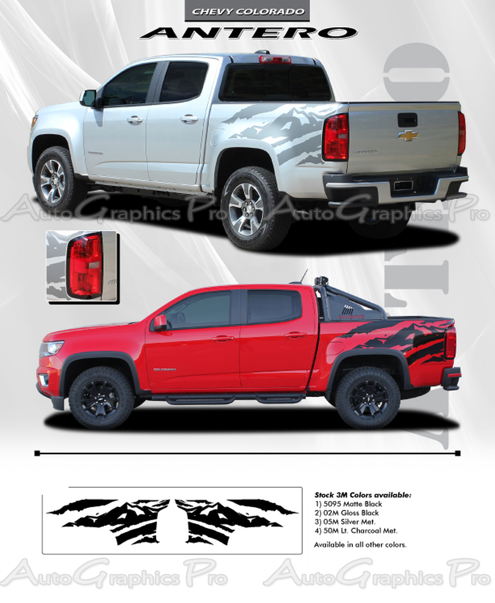 Best 2019 Gmc Canyon Colors Concept: 2015 2016 2017 2018 GMC Canyon Truck Bed Stripes ANTERO