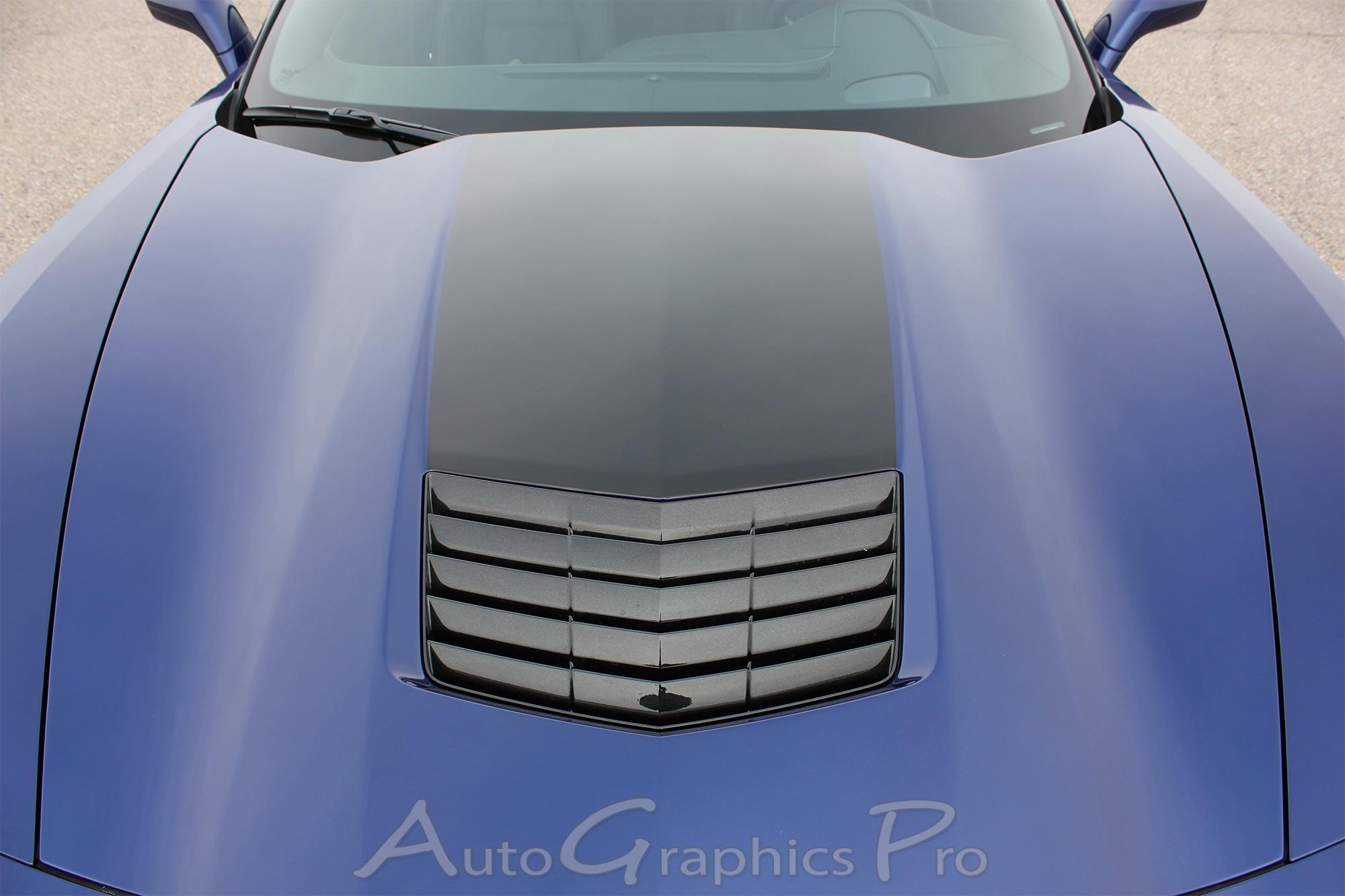 2014 2019 Chevy Corvette C7 Hood Blackout Decal Center Hood Stripe Vinyl Graphics Kit