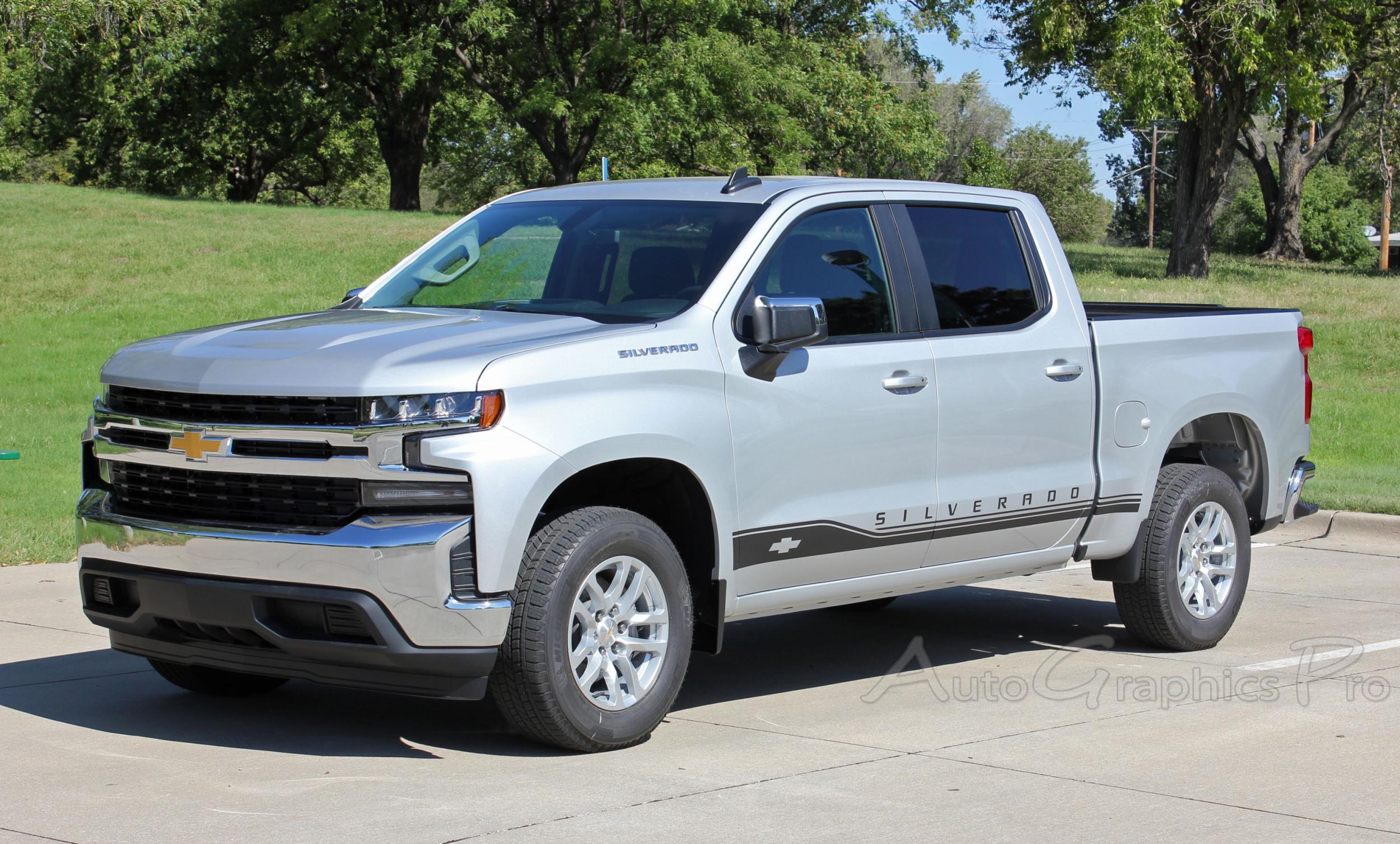 2019 Chevy Silverado Stripes Rocker One Door Decals Lower