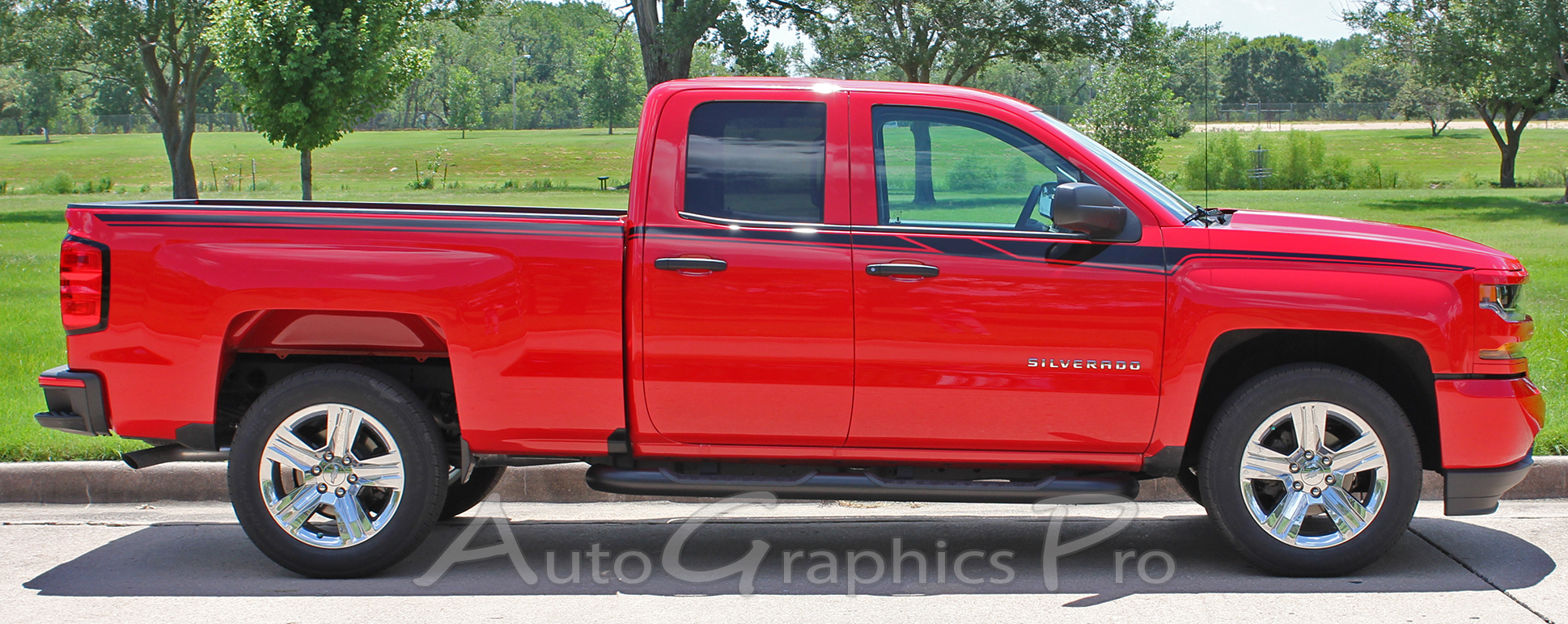 2014 2017 2018 Chevy Silverado Stripes Accelerator Decals Truck Vinyl Graphic Upper Body Accent Side Door Special Edition Rally Kit