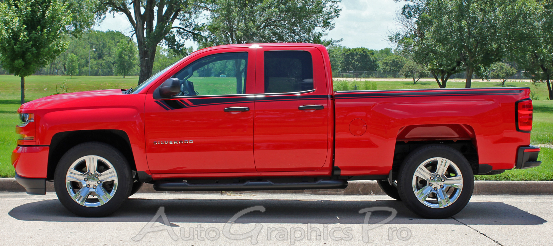 2014 2017 2018 Chevy Silverado Door Stripes Breaker Upper Body Truck Accent Decals Side Vinyl Graphics Special Edition Rally Kit