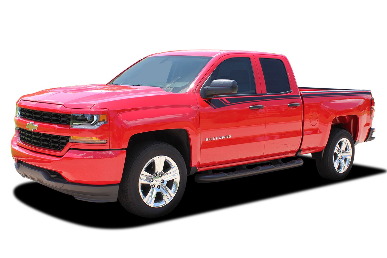 2014-2018 Chevy Silverado Accent Rally Side Vinyl Graphic Decal Stripe Kit