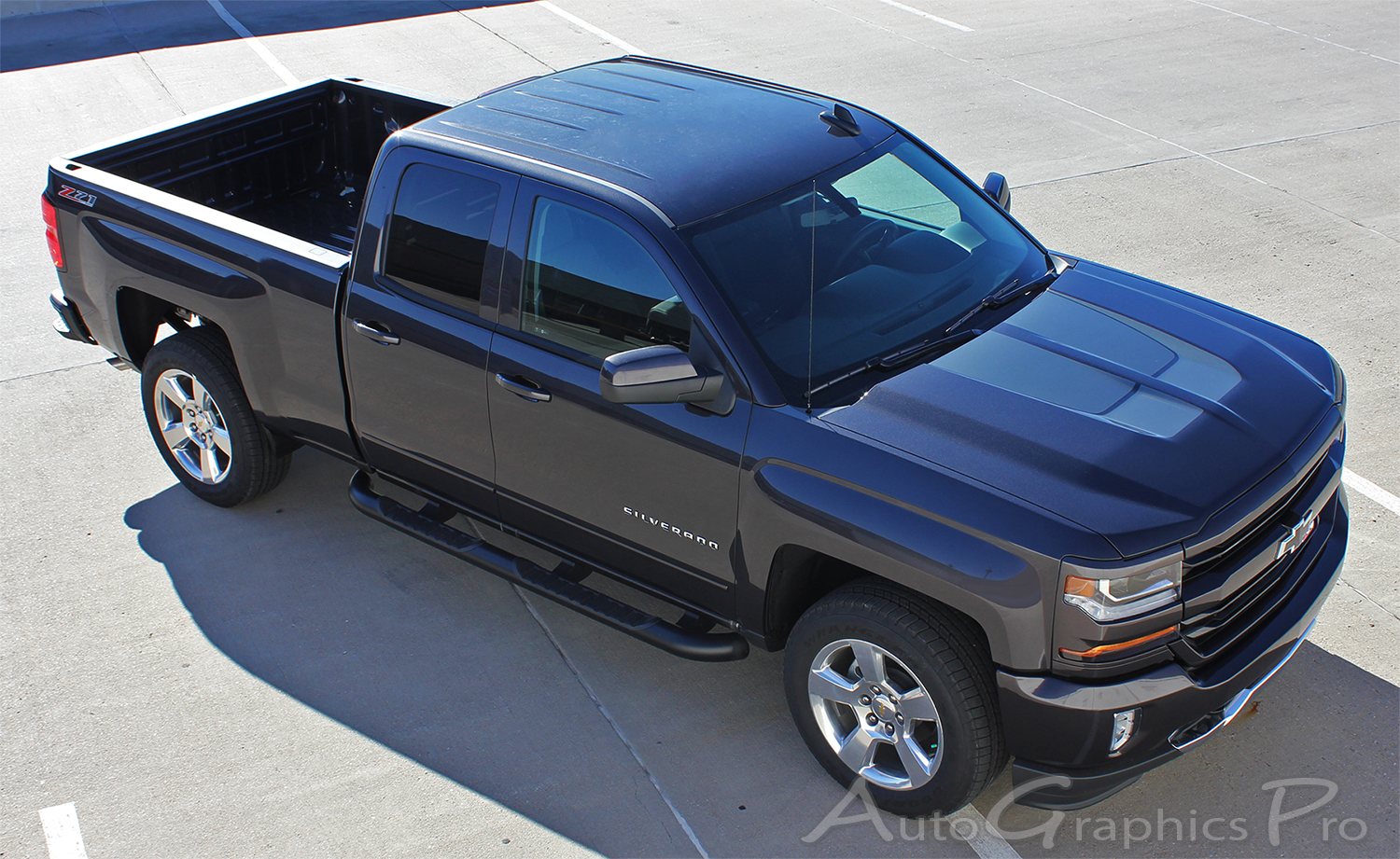 2016 2017 2018 Chevy Silverado Hood Stripes Chase Rally 1500 Decals Special Edition Truck Racing Vinyl Graphics Kit
