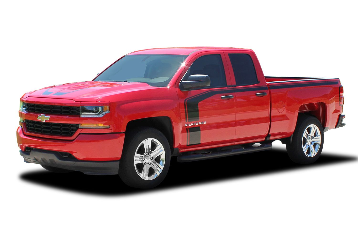 2016 2017 2018 chevy silverado special edition stripes flow rally decals truck hood and side. Black Bedroom Furniture Sets. Home Design Ideas