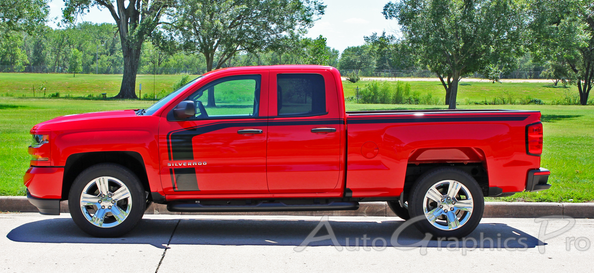 4c660e4195 2016 2017 2018 Chevy Silverado Special Edition Stripes FLOW Rally Decals  Truck Hood and Side Door Vinyl Graphics Kit
