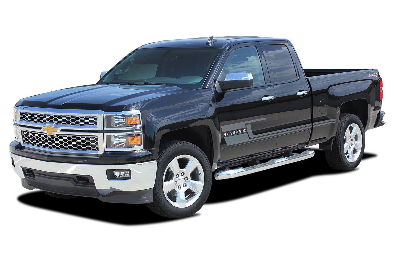 "Dodge Nitro 2016 >> 2014-2017 2018 Chevy Silverado ""SHADOW"" Truck 3M Vinyl Graphics Stripes Lower Door Decal Kit"