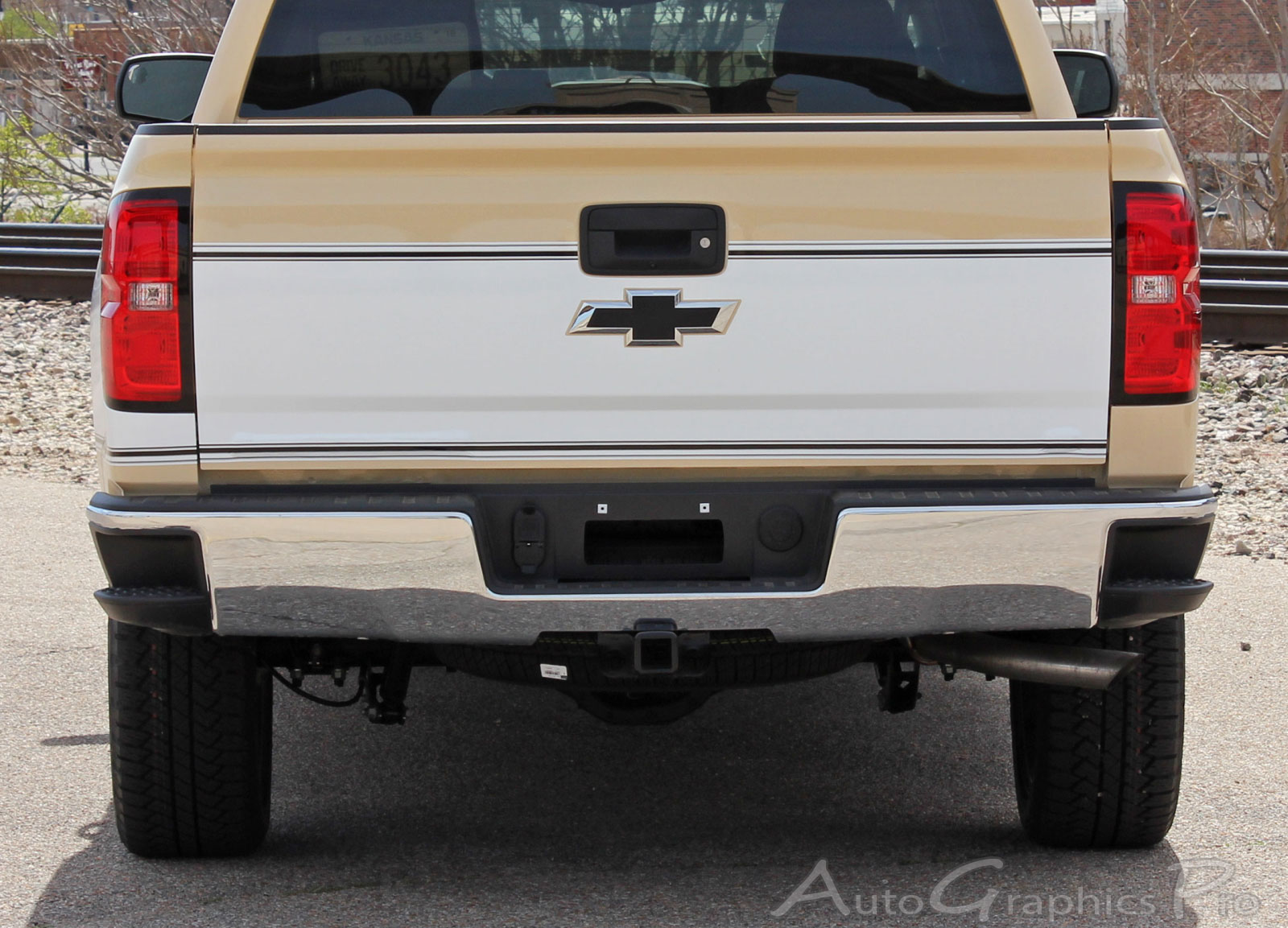 2014 2018 Chevy Silverado Retro Cheyenne Truck Stripes Mid