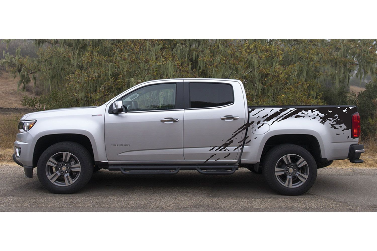 Predator chevy colorado mudslinger truck bed vinyl decal graphic stripes