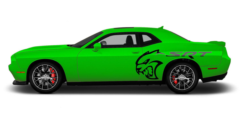 2008 2020 Dodge Challenger Side Body Graphic Srt Hellcat Door Vinyl Decals 3m Kit