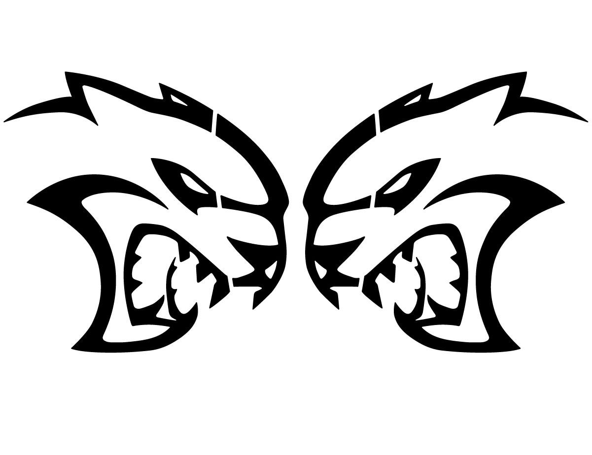 Hellcat Logo Decals 28 Inch Pair Fits Dodge Challenger Dodge Charger Vinyl Graphics