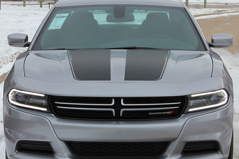 2015 2020 Dodge Charger Hood Graphic Split Hood Decal Mopar Vinyl Graphics Stripes Kit