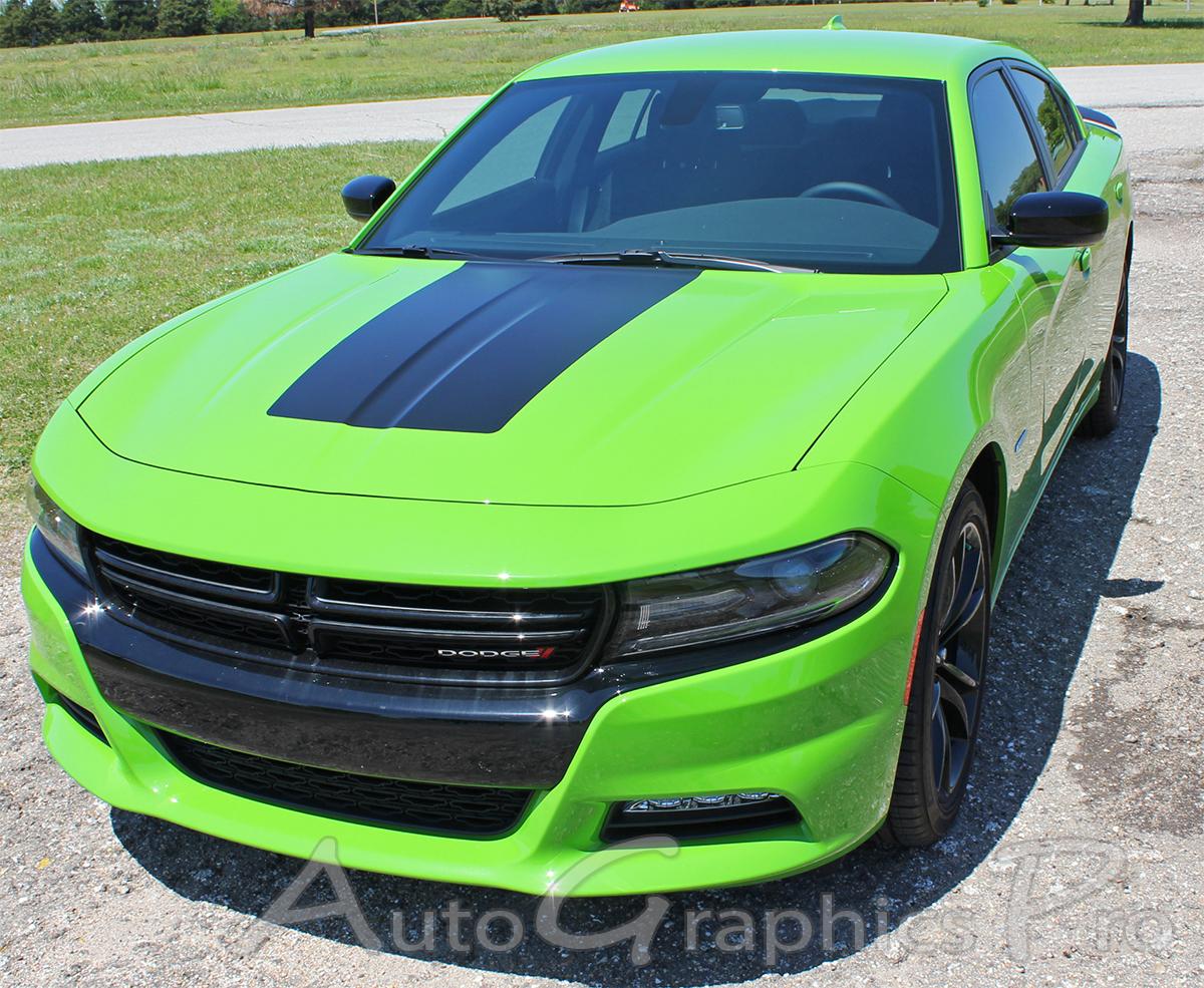 2015 2019 Dodge Charger Hood Stripe Vinyl Graphic Decals Hood 15