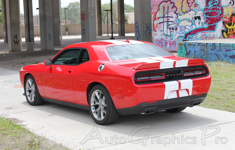 2015 2020 Dodge Challenger Srt Hellcat Racing Stripes Hood Decals Oem Style 10 Inch Vinyl Graphics Kit