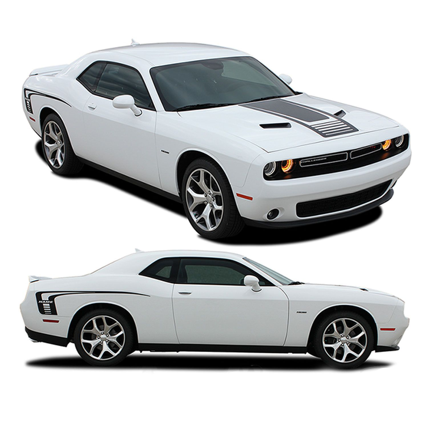 CLASSIC TRACK 2008-2018 Dodge Challenger Side Stripes Graphics 3M Scotchcal
