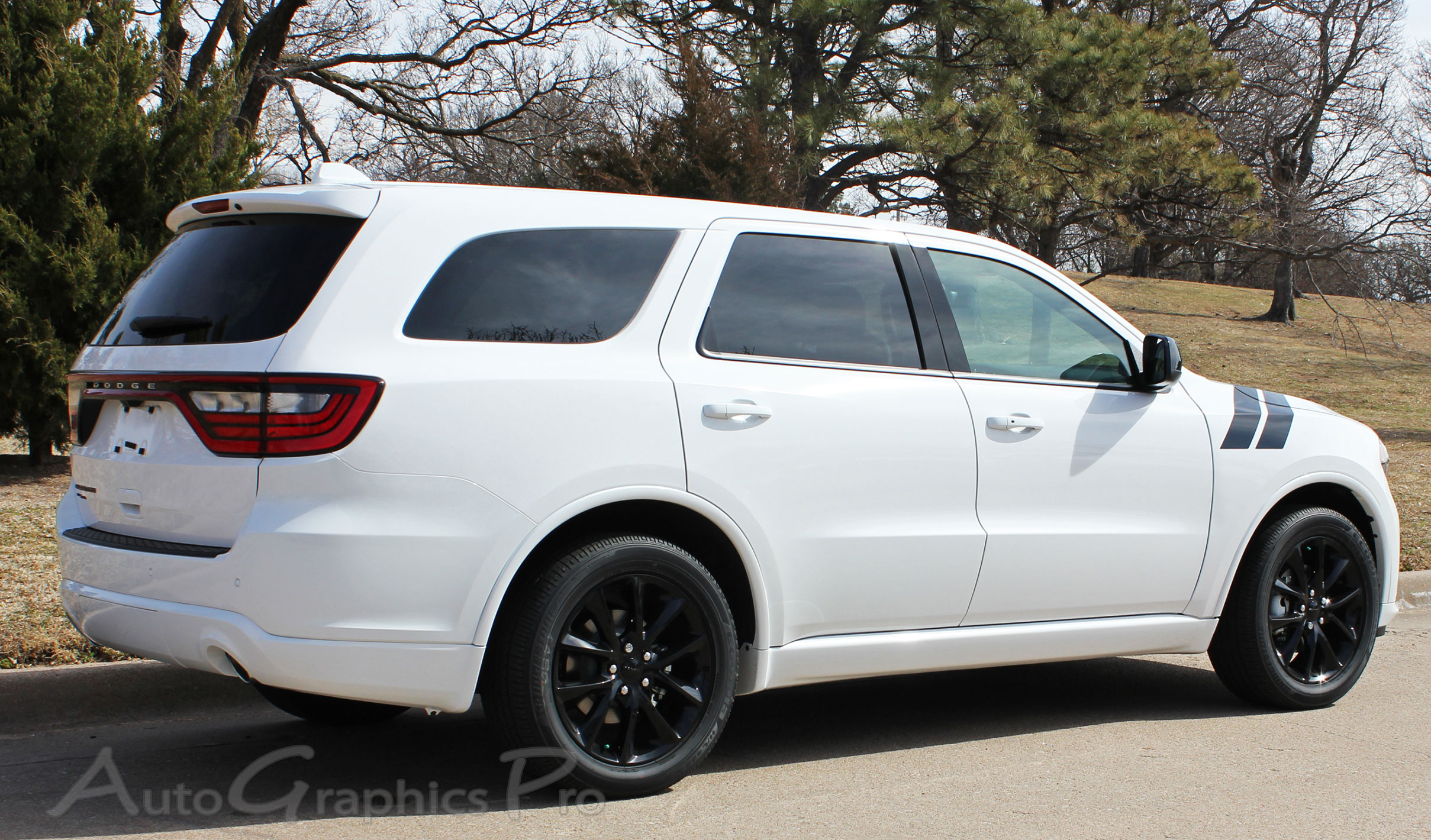 2011 2019 Dodge Durango Stripes Double Bar Hood Decals To