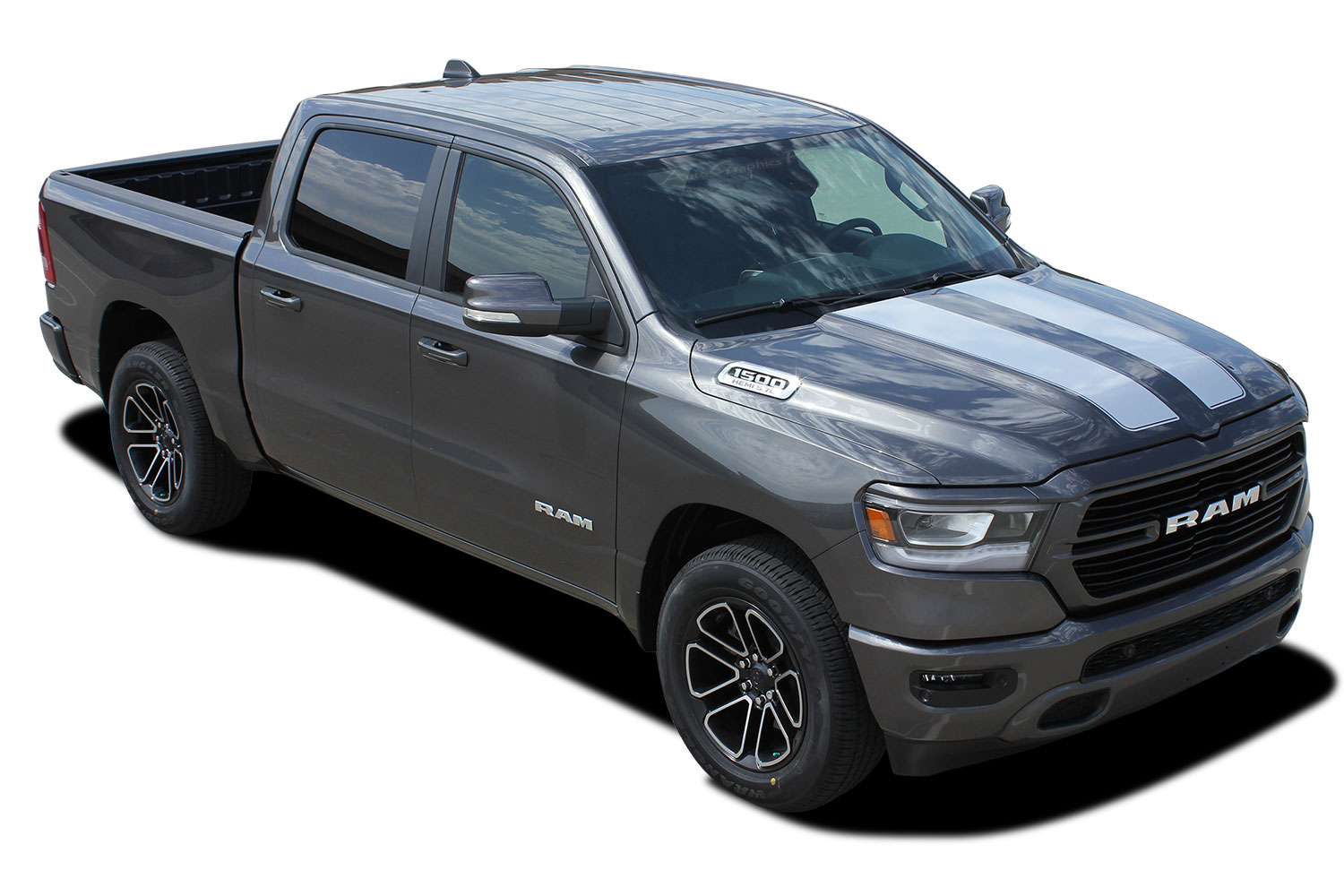 2019 2020 dodge ram rally hood racing stripes and tailgate decals truck vinyl graphic stripe kit