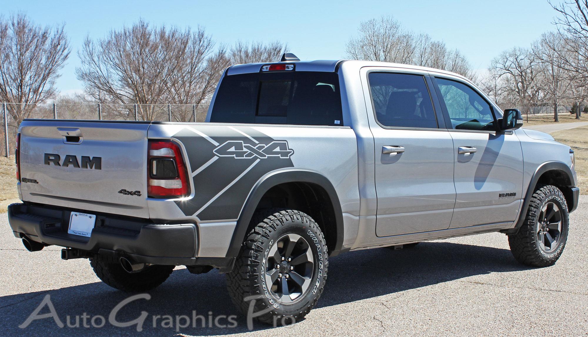 2019 2020 2021 Dodge Ram Rebel 1500 Side Bed Graphics Decals Stripes Reb Sides Vinyl Graphic Kits