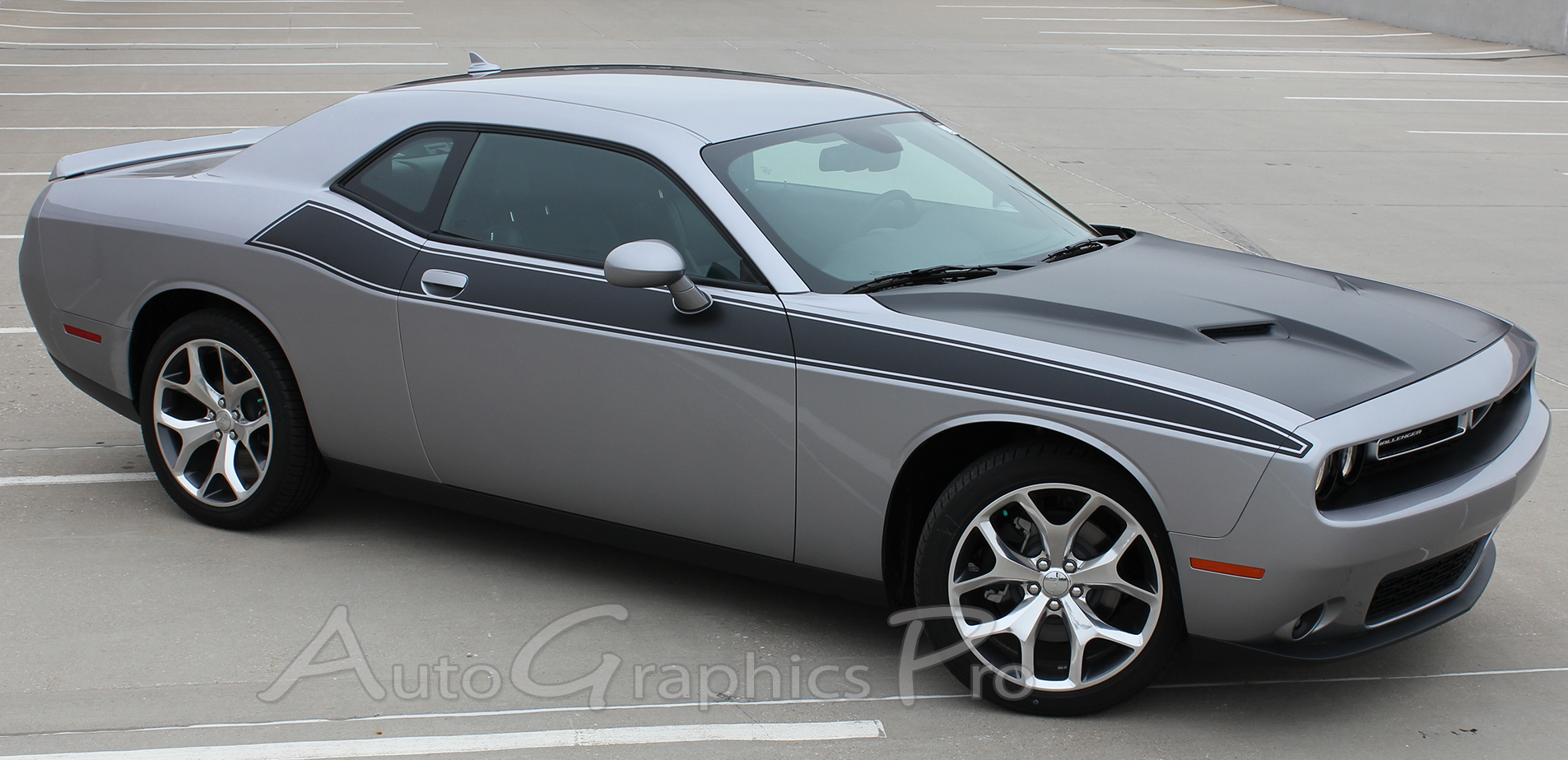 Dodge Challenger 2015-2018  side vinyl Decal RT Stripe Complete Graphic Kit