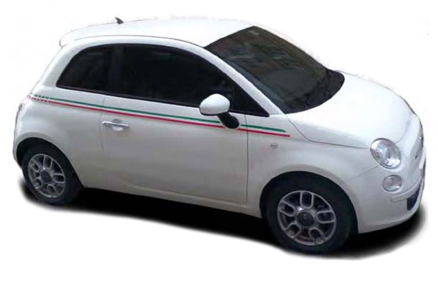 "Ram Dakota 2019 >> 2007-2018 Fiat 500 ""ITALIAN SIDE"" Red and Green Door Stripes Vinyl Graphic Kit"