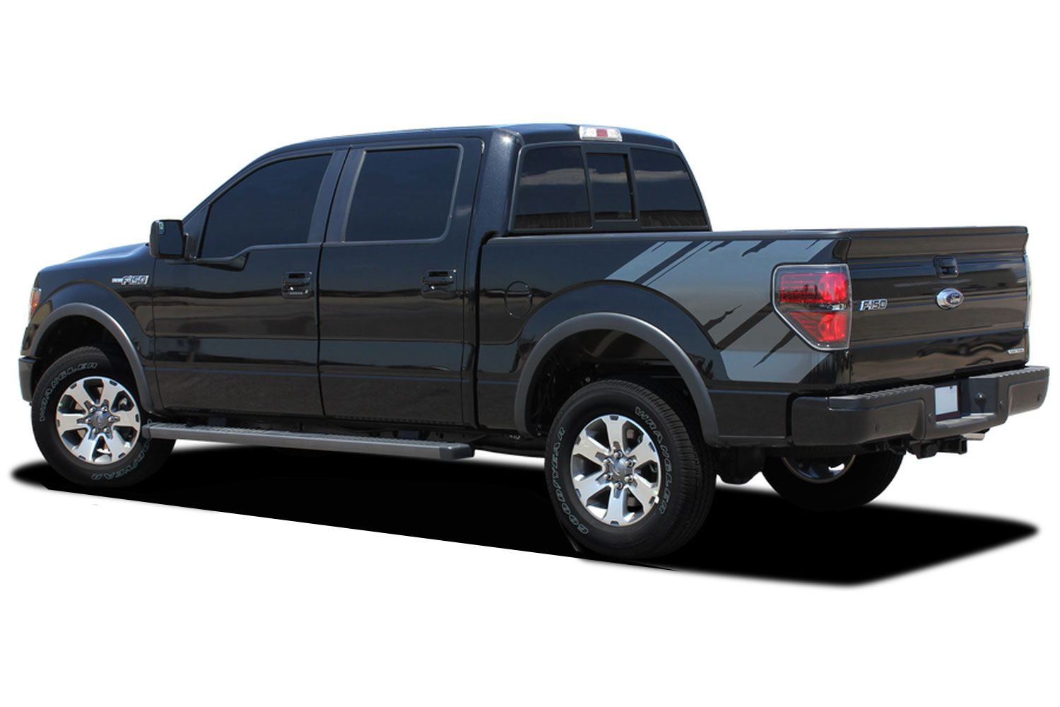Predator 2 Raptor Style Side Bed Graphics Decals Stripes 2008-2014 Ford F-150