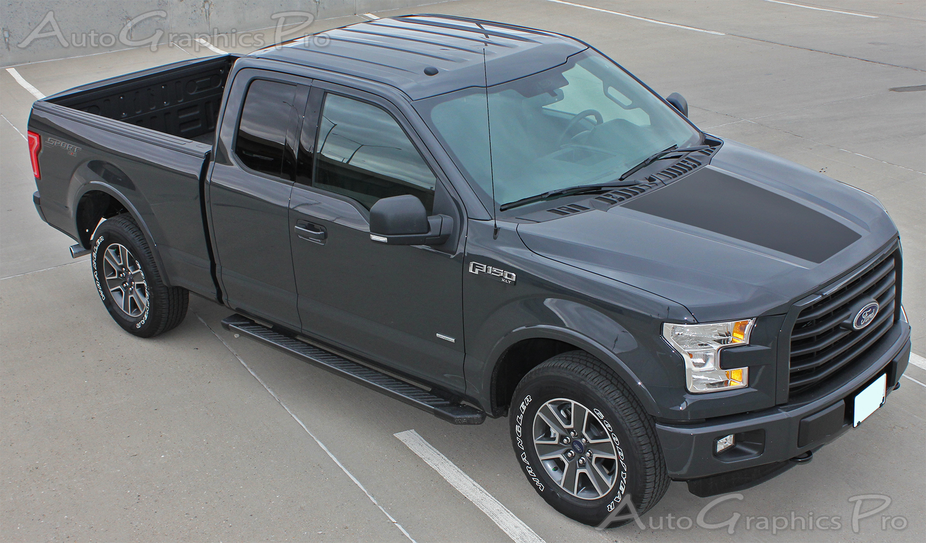 2017 2019 Ford F 150 Racer Hood Stripes Decal Blackout Vinyl Graphic